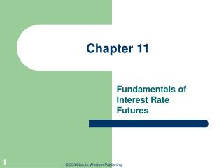 Fundamentals of Interest Rate Futures