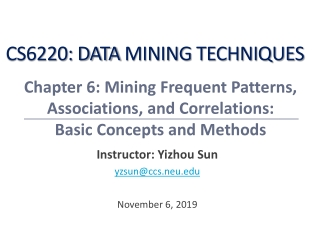 Data Mining:  Concepts and Techniques    Slides for Textbook      Chapter 6