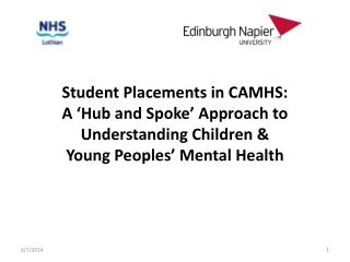 Student Placements in CAMHS:  A  Hub and Spoke  Approach to Understanding Children   Young Peoples  Mental Health