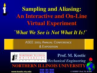 Sampling and Aliasing: An Interactive and On-Line  Virtual Experiment