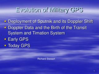 Evolution of Military GPS