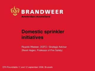 Domestic sprinkler initiatives