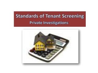 Standards of Tenant Screening