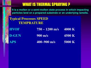 WHAT IS THERMAL SPRAYING