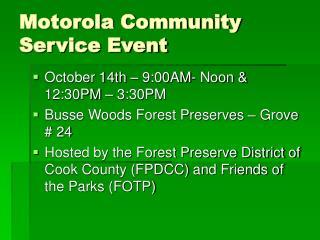 Motorola Community Service Event
