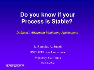 Do you know if your Process is Stable