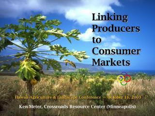 Linking Producers to Consumer Markets