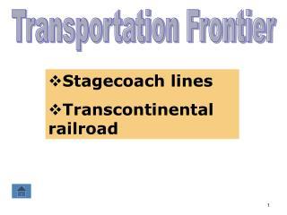 Transportation Frontier
