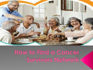 How to Find a Cancer Survivors Network