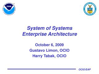 System of Systems Enterprise Architecture