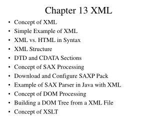 Chapter 13 XML