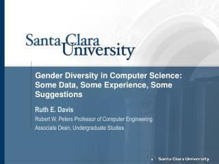 Gender Diversity in Computer Science: Some Data, Some Experience, Some Suggestions