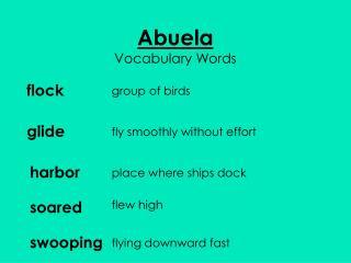 Abuela Vocabulary Words