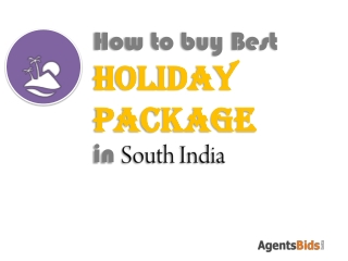holiday packages in south India
