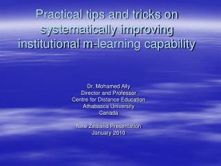 Practical tips and tricks on systematically improving institutional m-learning capability