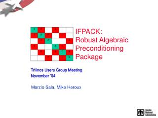 IFPACK: Robust Algebraic Preconditioning  Package