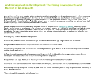 The mobile application market is one of the fastest growing