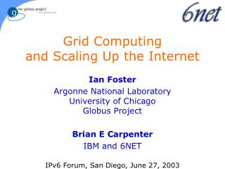 Grid Computing and Scaling Up the Internet