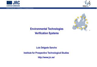Environmental Technologies Verification Systems