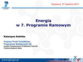 Energia  w 7. Programie Ramowym