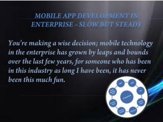 Mobile development in enterprise