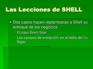 Las Lecciones de SHELL