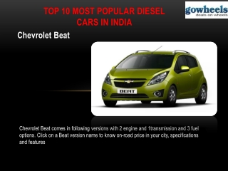 Top 10 papular diesel cars in india