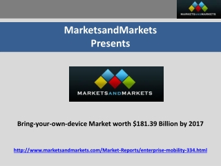 Bring-your-own-device Market worth $181.39 Billion by 2017