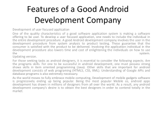 app development android