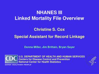 NHANES III Linked Mortality File Overview