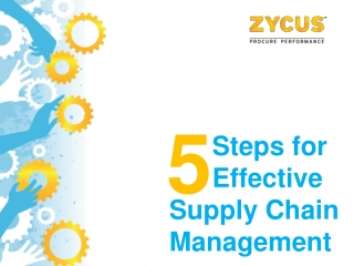 5 Steps for effective supply chain management