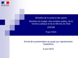 Minist re de la sant  et des sports  Minist re du budget, des comptes publics, de la fonction publique et de la r forme