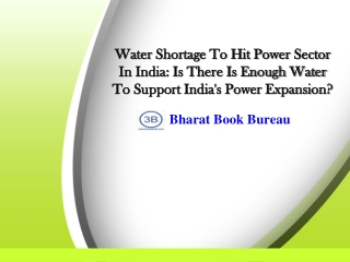 Water Shortage To Hit Power Sector In India