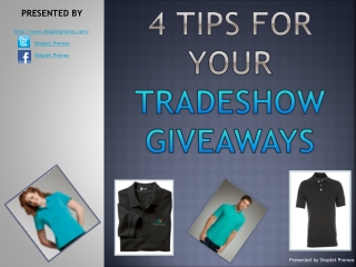 4 Tips For Your Tradeshow Giveaways
