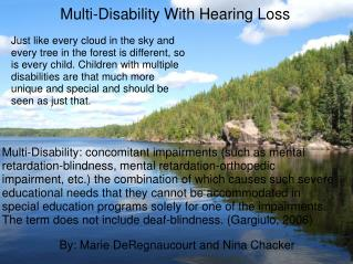 Multi-Disability With Hearing Loss