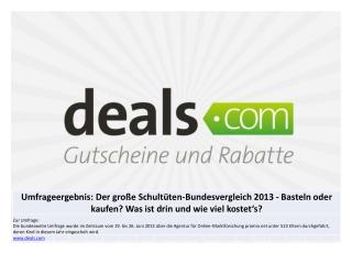 Deals.com Schultüten Umfrageergebnisse