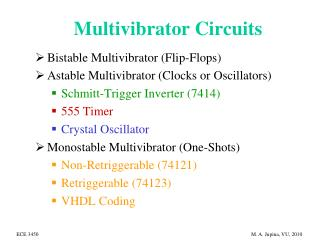 Multivibrator Circuits