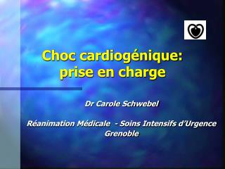 Choc cardiog nique: prise en charge