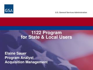 1122 Program  for State  Local Users