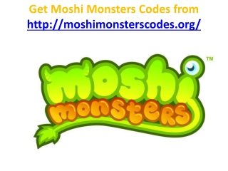 moshi monsters codes