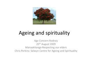 Ageing and spirituality