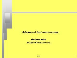 Advanced Instruments Inc.