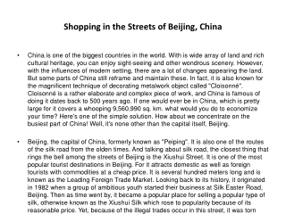 Shopping in the Streets of Beijing, China