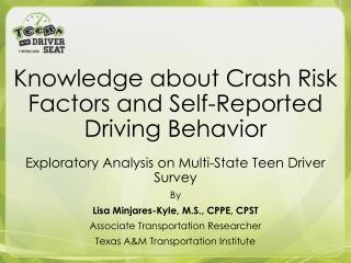 Effect of Passengers  on Teenage Drivers