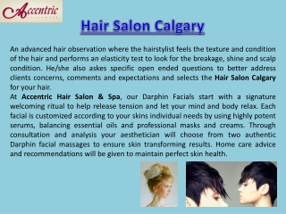 Hair Salon Calgary