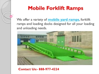 Mobile forklift ramps