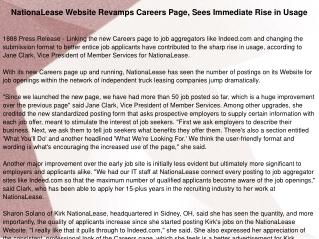 NationaLease Website Revamps Careers Page, Sees Immediate Ri