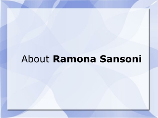 Ramona Sansoni