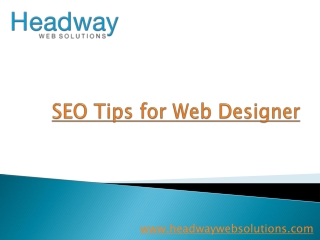 SEO Tips for Web Designer