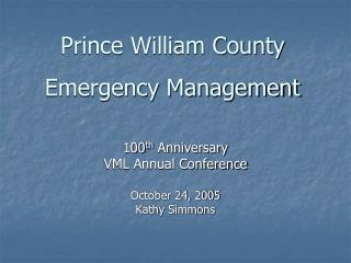 Prince William County  Emergency Management
